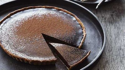 "Recipe:&nbsp;<a href=""http://kitchen.nine.com.au/2016/05/05/11/02/mark-bests-chocolate-tart"" target=""_top"">Mark Best's chocolate tart</a>"