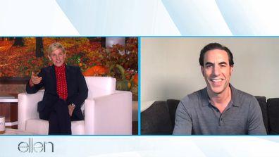 Ellen DeGeneres and Sacha Baron Cohen