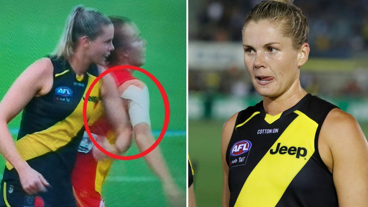 Katie Brennan in hot water over hit
