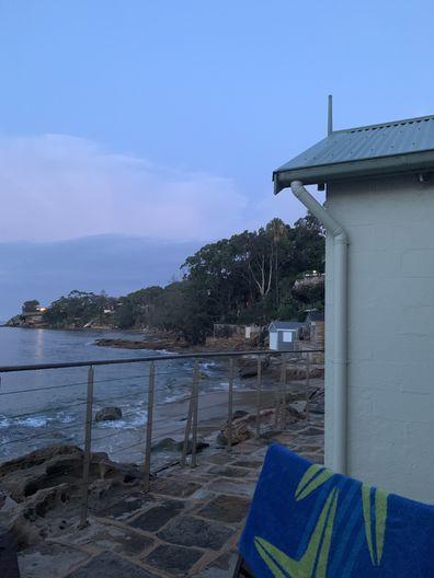 Jo Abi view from Bundeena accommodation