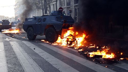 On Saturday, protesters, for the fourth weekend in a row, threw stones, torched cars and vandalised shops and restaurants in a protest against Macron's economic policies.