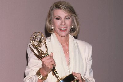 After five years on air,  Joan won a Daytime Emmy for 'Most Outstanding Talk Show Host' for <i>The Joan Rivers Show</I> in 1990. <br/>