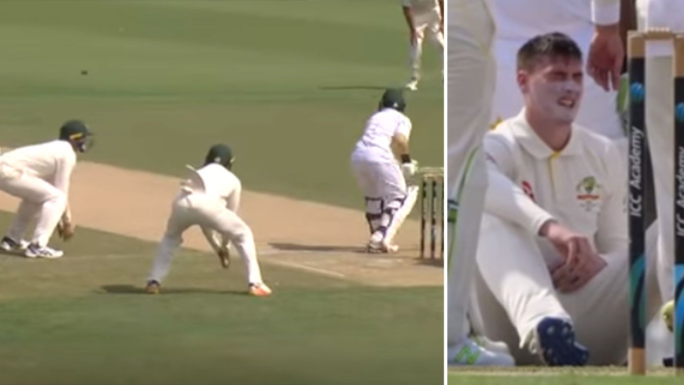 Matthew Renshaw forced to leave field of play after brutal head knock