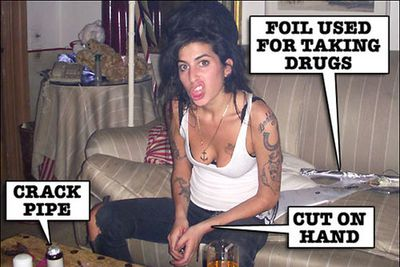 She was forced to enter rehab in 2008 after a newspaper published photos of a woman they claimed was Amy doing crack cocaine.