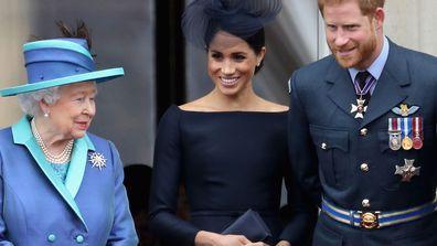 Meghan Markle, Queen, Prince Harry