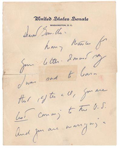 A letter from John F. Kennedy to Gunilla von Post