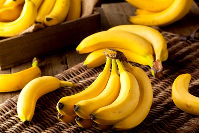 Bananas are low in calories