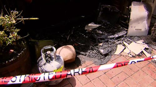 Two Melbourne men have been taken to hospital after a barbecue gas explosion. (9NEWS)