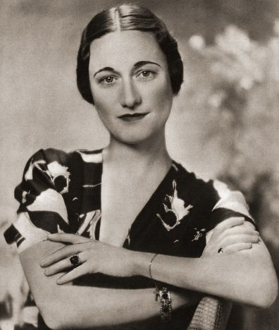 Wallis Simpson, image from the Coronation Souvenir Book published 1937.