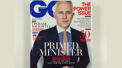"Malcolm Turnbull appeared on the front cover of men's fashion magazine GQ in April 2015, with the headline ""A Man on the Move. Next Stop. The Lodge. Maybe."""