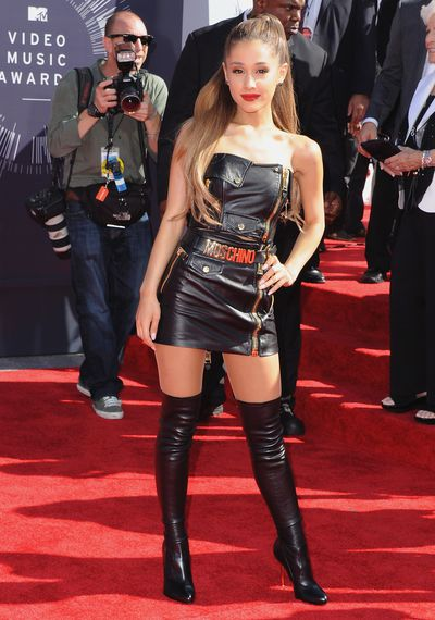 Ariana Grande in Moschino at the MTV Video Music Awards in Los Angeles, August, 2014