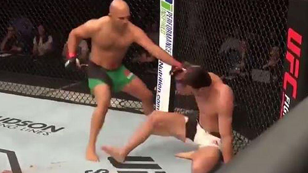 UFC Rotterdam: Australian fighter Rob Wilkinson cops vicious TKO in debut