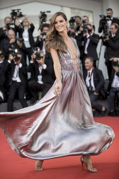 Izabel Goulart in Alberta Ferretti at the 2018 Venice Film Festival