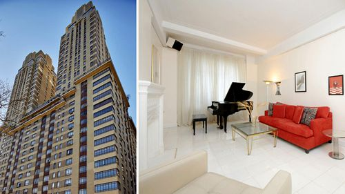 It is believed the Turnbull's apartment sits just above the halfway point of the tower. Photo on the right is image from real estate listing of the condo when it was purchased by Malcolm and Lucy Turnbull. (Supplied)