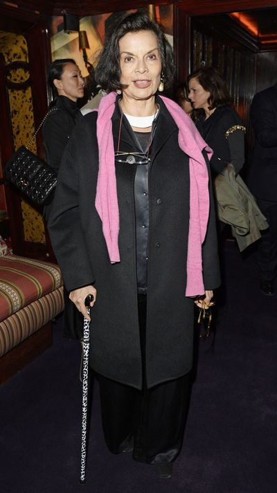 Bianca Jagger at the London premiere