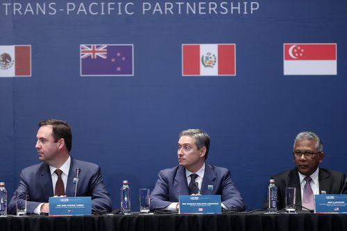 The signing of the the Trans-Pacific Partnership in Santiago, Chile, 08 March 2018.