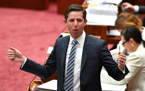 Education Minister Simon Birmingham has also jumped to stand by Ms Cash. (AAP)