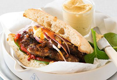 Middle Eastern spiced lamb burger