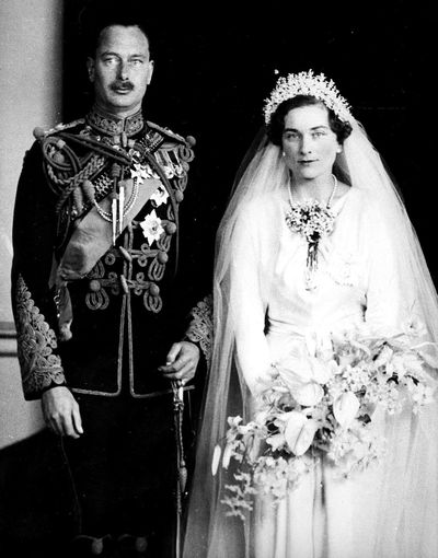 Princess Alice, Duchess of Gloucester marries Prince Henry Duke of Gloucester, November, 1935.<br /> <br />