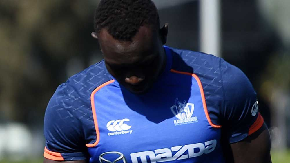 Kangaroos AFL big man Majak Daw hurts knee