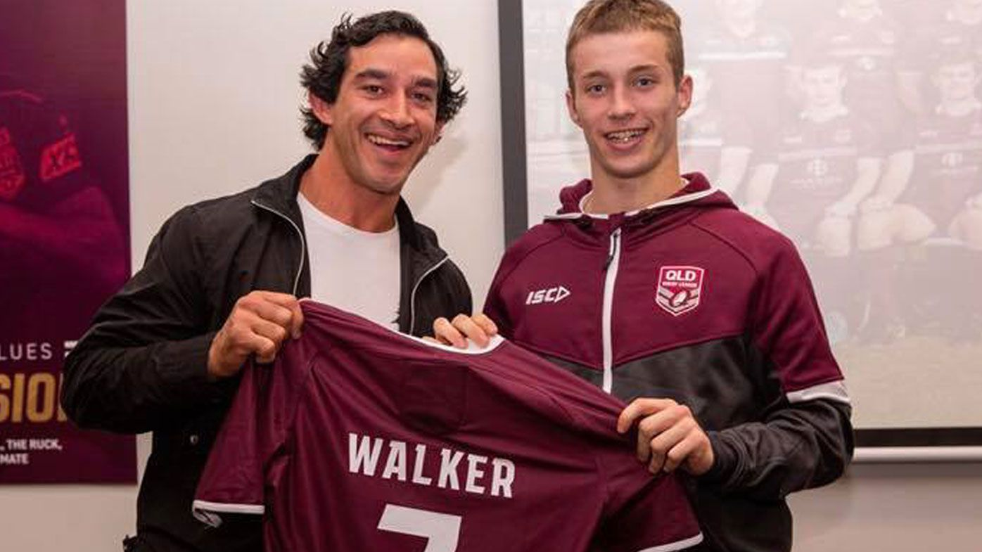 Sam Walker with Johnathan Thurston