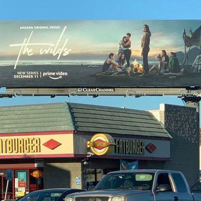 Amazon Original series, The Wilds, Mia Healey, billboard, Sunset Boulevard, LA