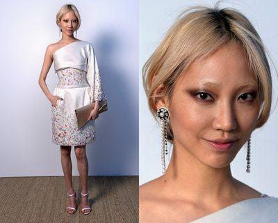 <p>Soo Joo Park's earrings.</p>