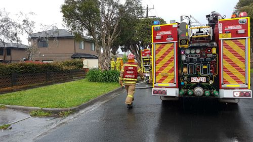 Fire crews were alerted to the blaze in Dandenong about 7.50am. (9NEWS)