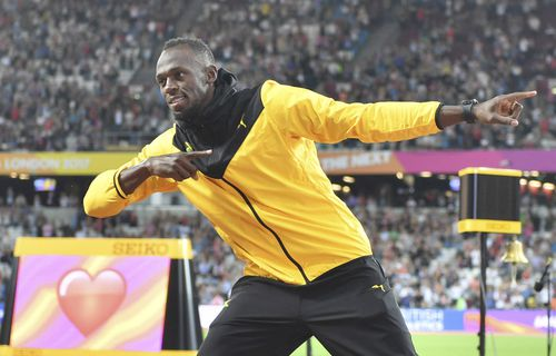 Usain Bolt is well known for his love of football, (AAP)