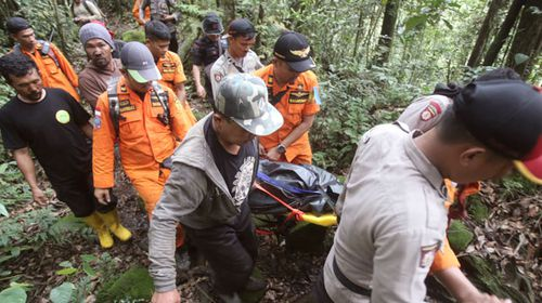 Body of German hiker found with 'severed leg' on Indonesian mountain