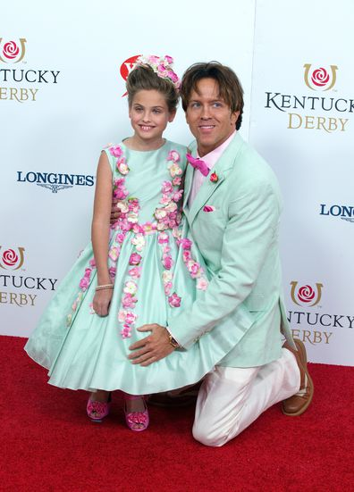 Dannielynn Birkhead (L) and Larry Birkhead attend attends the 142nd Kentucky Derby at Churchill Downs on May 07, 2016 in Louisville, Kentucky.