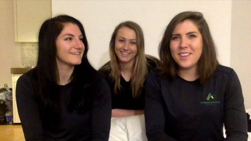 Breanna Walker, Ashleigh Werner and Mikayla Dunn have devoted the past two years to bobsledding. (9NEWS)