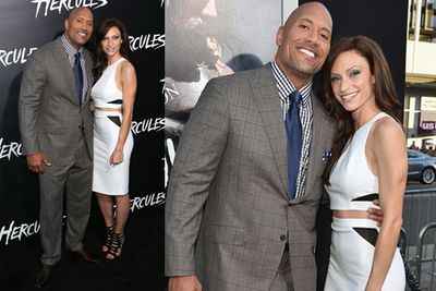 But sorry ladies, this man is taken. Here's Dwayne with his girlfriend Lauren Hashian.