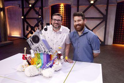 LEGO Masters 2021 Season 3 Cut In Half Challenge David and Gus