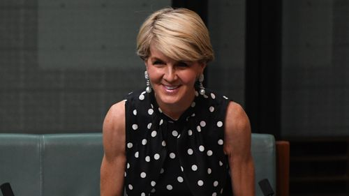 Former Liberal deputy leader Julie Bishop during Question Time in the House of Representatives at Parliament House in Canberra, Tuesday, February 12, 2019
