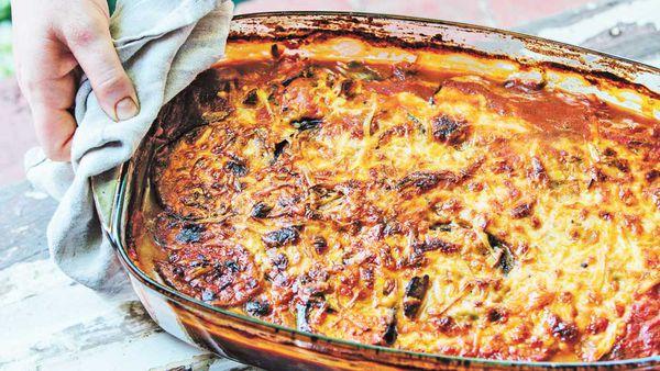 Eggplant & chickpea lasagne