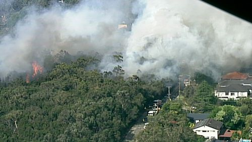 The first major blaze to break out in Sydney has erupted this afternoon, with embers lighting up a fresh blaze in Sydney's Upper North Shore.