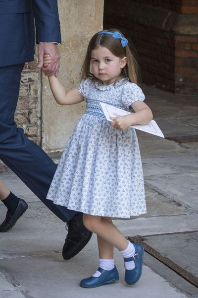 "Princess Charlotte delights waiting media<span style=""white-space: pre;"">	</span>"