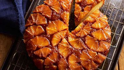 Orange drippy syrup cake