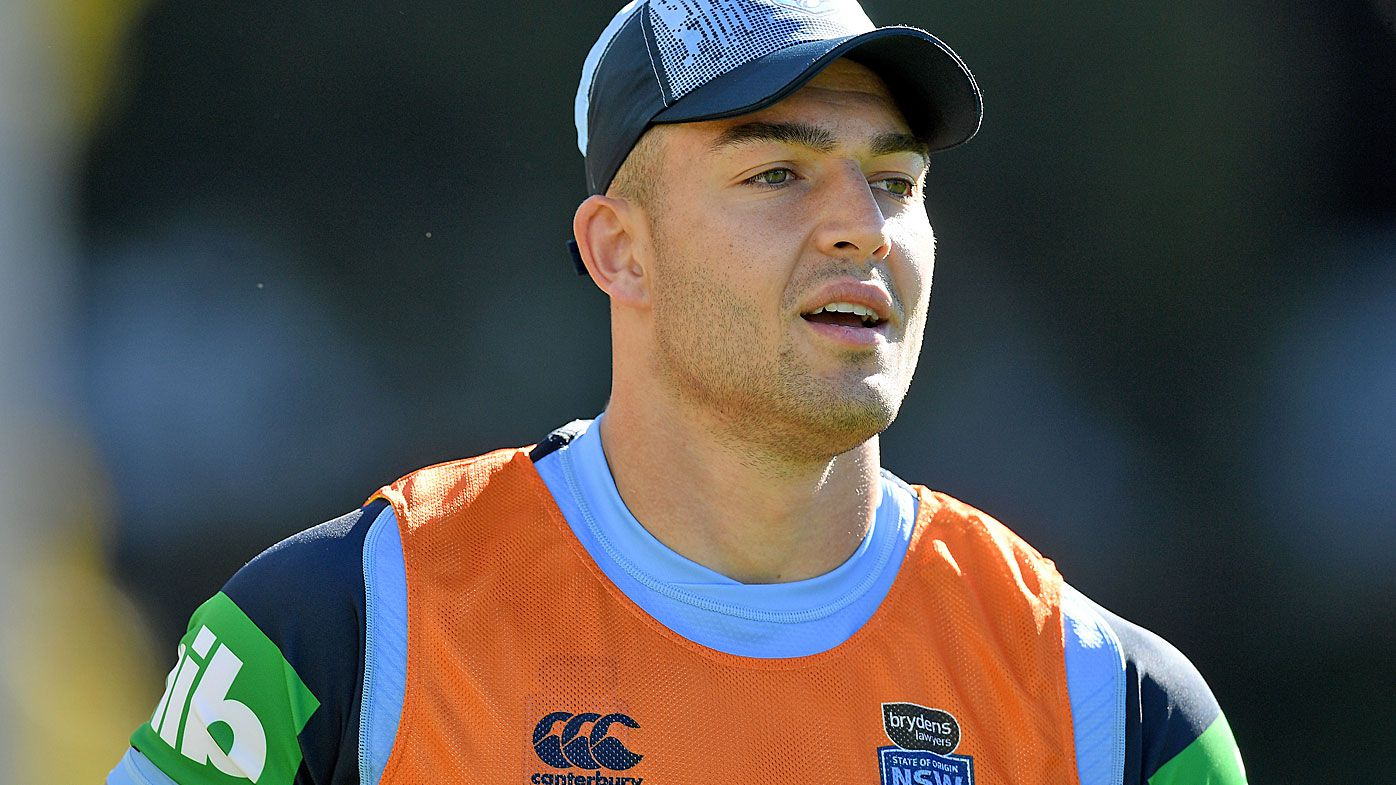 NSW Blues player Nik Cotric takes part in a team training