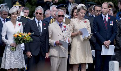 British and Belgian royals stand side by side at the ceremony.
