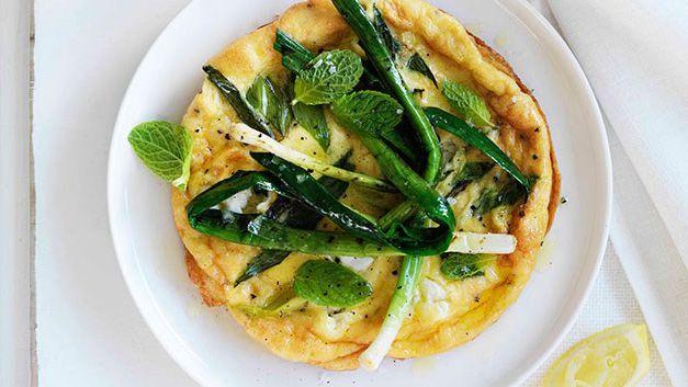 Leek omelette