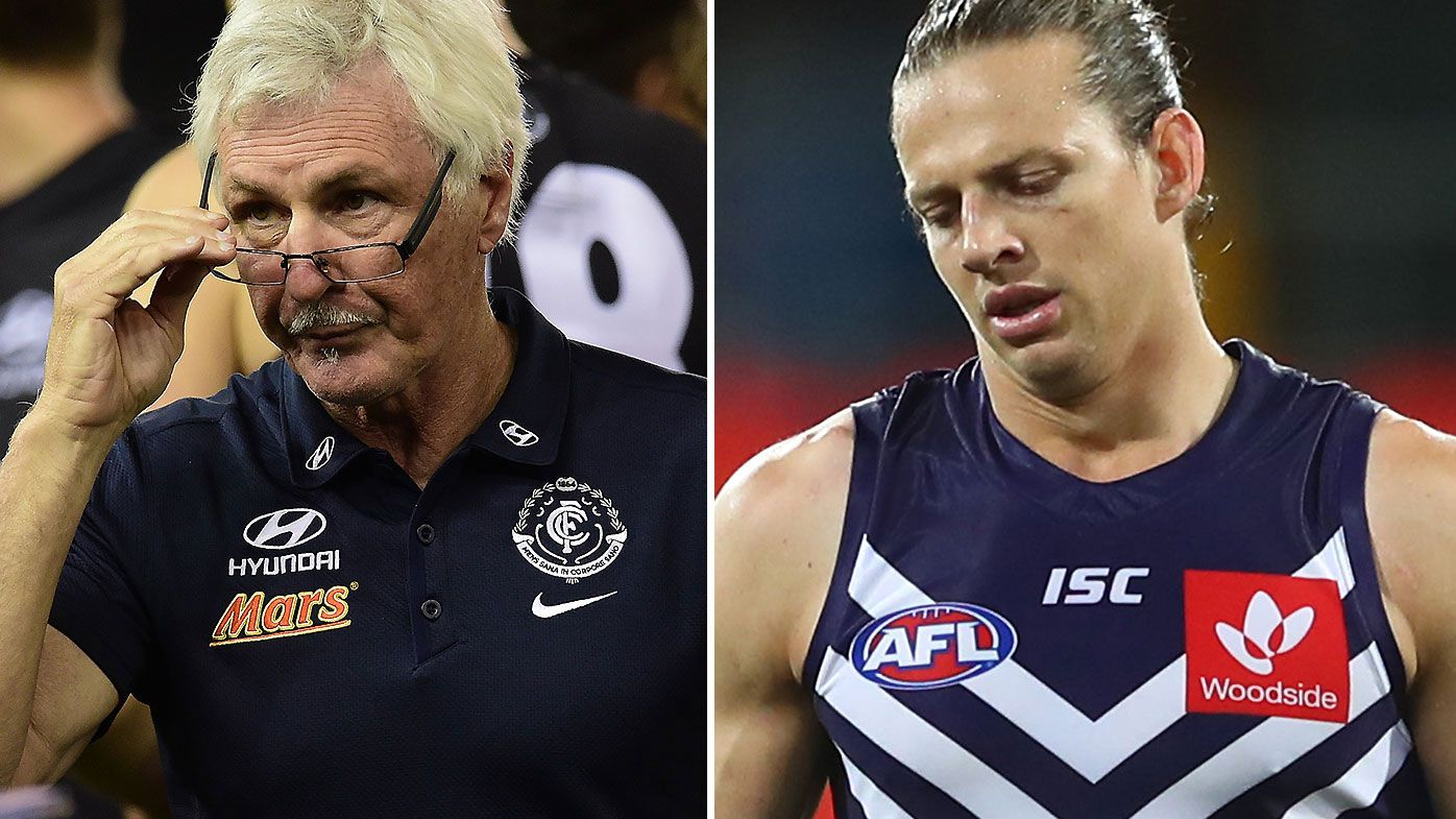 Mick Malthouse says Nat Fyfe not a 'champion' despite two Brownlow Medals