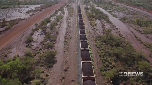 Approximately 30 journeys are completed each day across 1700 kilometres of track.