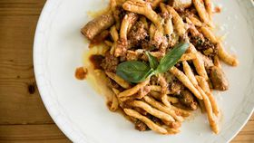 Massimo Mele's handmade macaroni with traditional ragu sauce