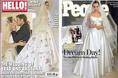 After nearly a decade and with six kids under their belt, Brad Pitt and Angelina finally said 'I do' in a secret French wedding. <br/><br/>True to form, the $2 million generated for their wedding photos all went to charity. <br/>