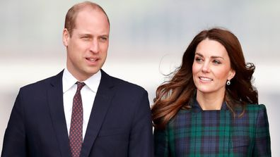 The Duke and Duchess of Cambridge in Scotland in January 2019 at the opening of a museum.