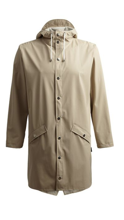 "<a href=""http://www.rainsaustralia.com.au/collections/womens-rainwear/products/long-jacket-sand-w""> Long Jacket in Sand, $139.99, Rains</a>"