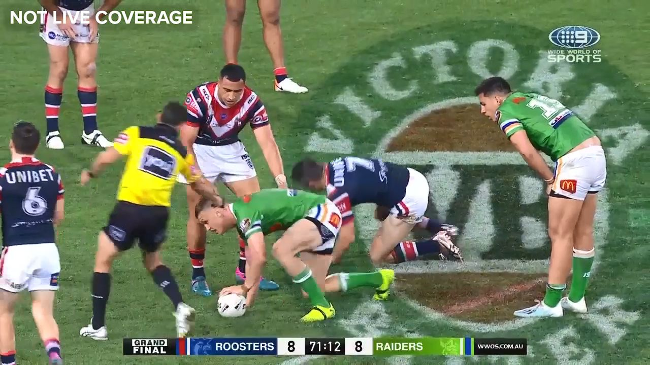 Sydney Roosters score controversial grand final win over Raiders after referee
