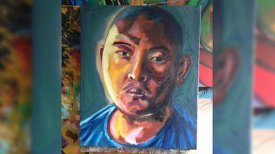 A portrait of fellow death-row prisoner Andrew Chan. (Facebook)
